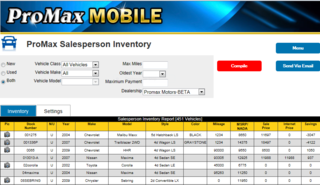 PMM Salesperson Inventory Report grab