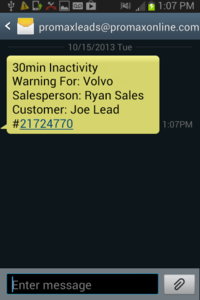 Lead Monitoring Text