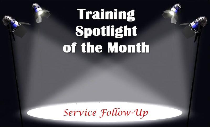 Training Spotlight Service Follow-Up