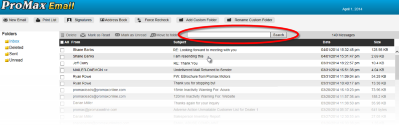 E-mail2.0 Inbox With Search