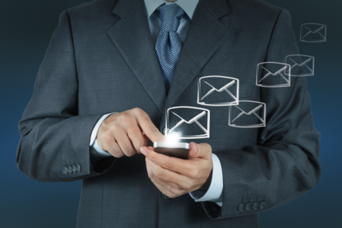 Email 2.0 man on phone