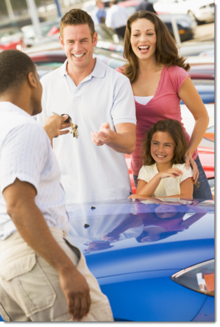 Family at Dealership