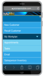 PMM Workplan Menu Cell Phone