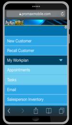 PMM Workplan Menu Cell Phone