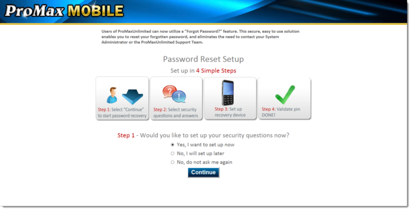 PMM Password Reset