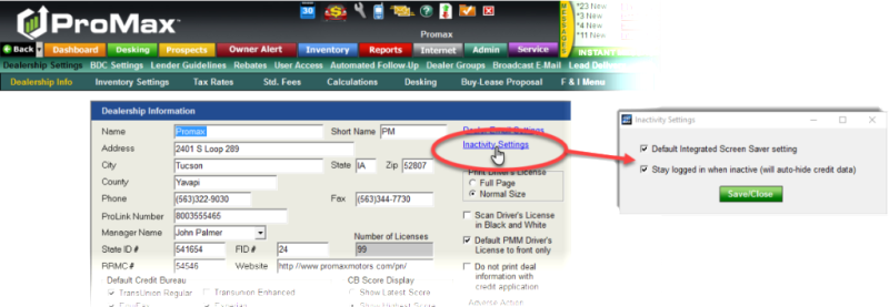 Screen Saver Non-Credit Data