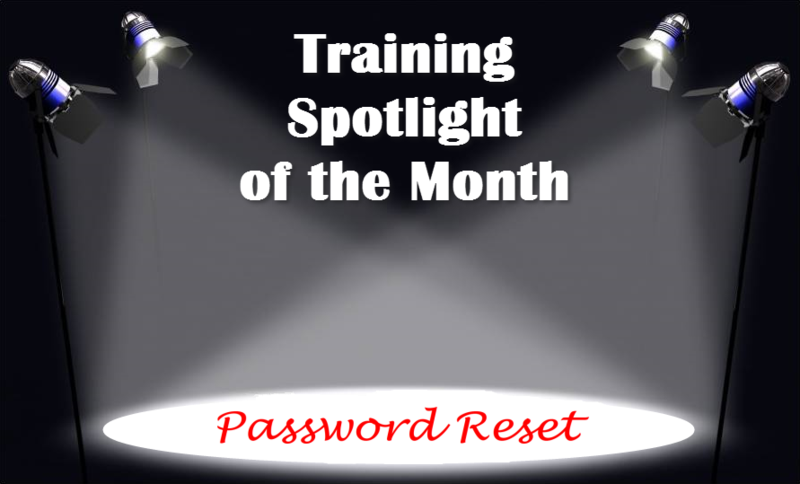 Training Spotlight Password Reset
