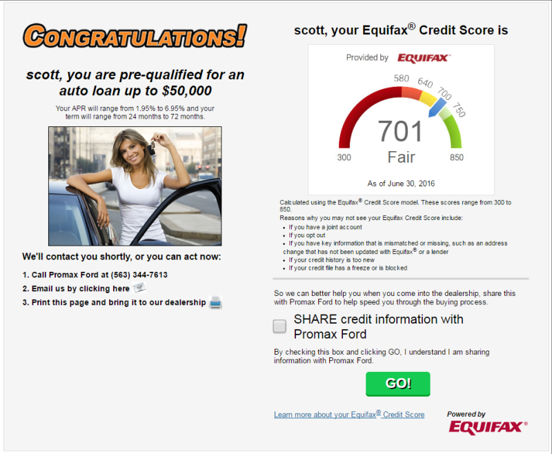 Instant Auto Credit App Powered By Equifax