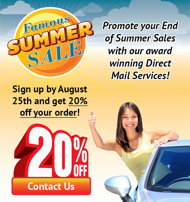 Direct Mail Ad August 2017