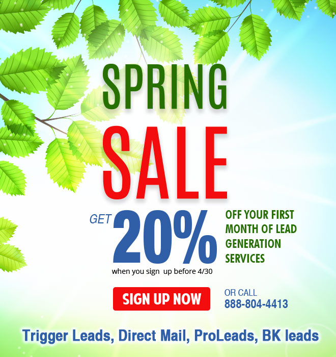 Spring Lead Generation Sale