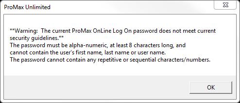 New Password Guidelines