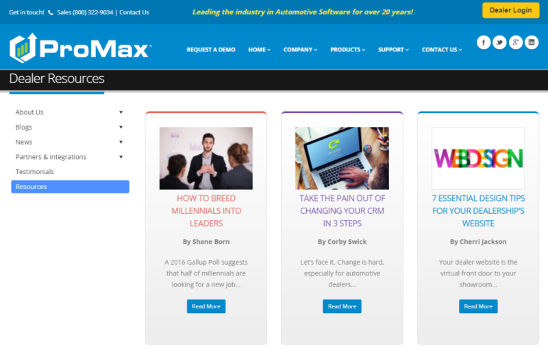 ProMax Resources Page
