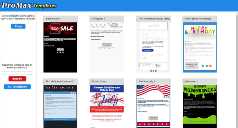 new email templates available promax mobile