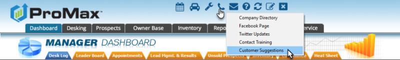 Customer Suggestion Portal in ProMax