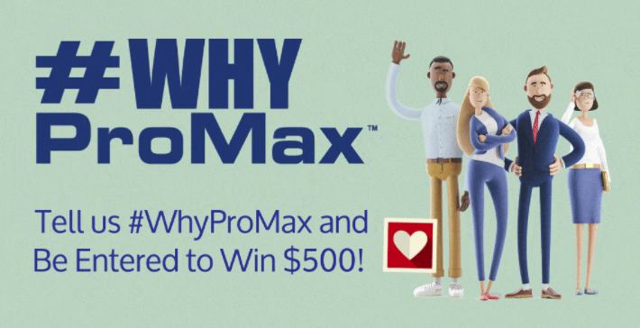 WhyProMax landing page slide